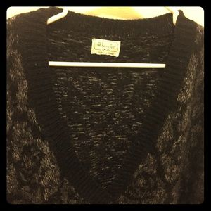 Black/white/Grey long Benetton sweater